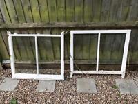 Original wooden Sash window in need of restoration