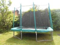 7FT x 10FT SKYHIGH RECTANGULAR TRAMPOLINE WITH ENCLOSURE