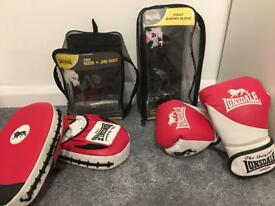 Lonsdale Boxing gloves and Jab pads