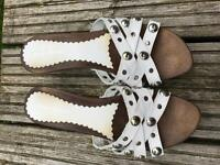 Russell & Bromley - white leather MULES - size 41