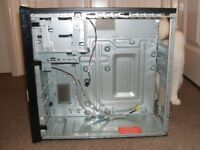 empty computer case in good condition with windows 7 licence