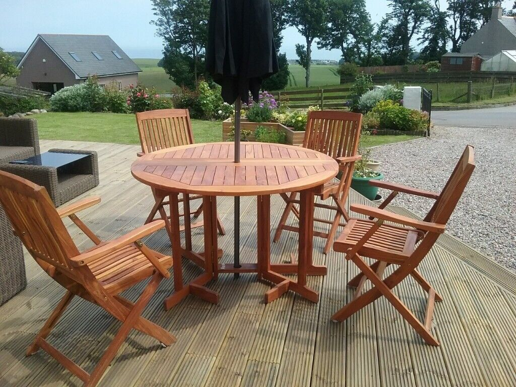Superior Quality Garden Dining Set comprising of 116cm ...