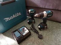 Makita 18V Brushless Impact And Combi Drill Twin Pack Set