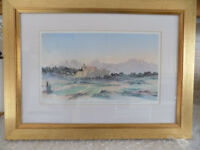 Authentic Framed Print by HRH Price of Wales 2002. View in South of France. Numbered 18.