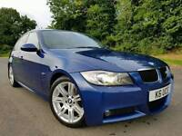 Le Mans Blue 2007 BMW 320d M sport 177bhp, ONE OWNER! FULL BMW SERVICE HISTORY! MASSIVE SPEC!