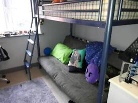 Bunk bed with sofa bed at the bottom