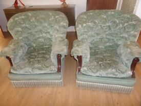 3 PIECE FABRIC SUITE 2 ARMCHAIRS AND 3 SEATER SOFA