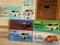 VW camper T5 hand painted sign Xmas gift picture painting