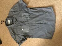 River island short sleeve shirt L
