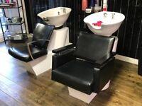 Hair back wash stations