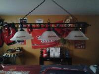 lampe de table de billard budweiser
