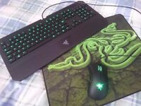 Razer LED Deathadder, Deathstalker & Large Mat - hardy used