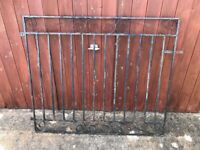 Single wraught iron gate