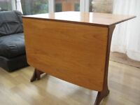 Solid wood drop down gate legged table and 4 chairs