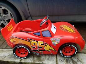 Lighting mcqueen battery powered car.