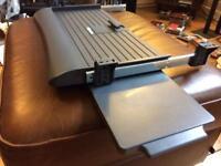 Sliding Keyboard and Mouse Under Desk Shelf