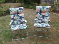 GARDEN / CONSERVATORY CHAIRS. adjustable backs.