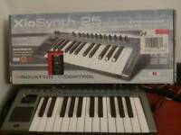 Novation Xiosynth 25 key Synthesizer, midi keyboard and Audio interface (Reduced)