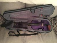 Purple Stentor Violin - full size 4/4