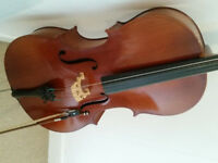 Full size 4/4 cello, ideal for beginner or student