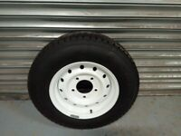 landrover series wheels and tyres x 5. in very good order.