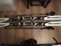 170cm Rossignol Bandit B2 skis with poles in great condition