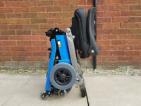 Luggie Standard BLUE mobility scooter.PORTABLE mobility scooter.Car boot scooter