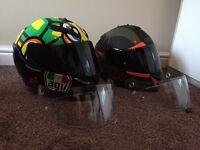 Immaculate Brand New Motorbike Helmets AGV HJC Arai Shoei