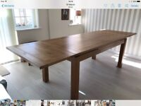 Solid oak extending dining table SOLD