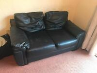Faux leather 2 seat sofa & arm chair
