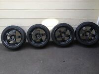 "18"" alloy wheels with tyres 5 x 100 (vw audi seat)"