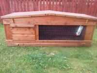 6.5ft rabbit hutch for sale, only 1 year old , indoor hutch box included.