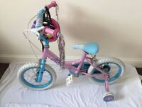 A lovely children's kids girls' Lily bike with a helmet++nice bike ++£20 ONO