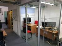 Toughened Glass partition with Glass door. open to offers.