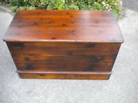 LARGE PINE CHEST IN VERY GOOD CONDITION