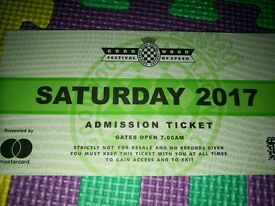 1 x Goodwood Festival of Speed Saturday Ticket