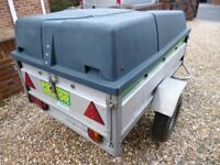 Large Camping Trailer, Box 5ft x 3ft5in, GRP Hard Top, Thick Guage Galvanised Body, Jockey, Lights