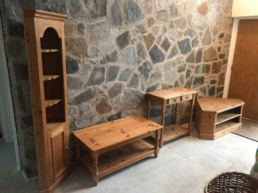 solid pine living room set tv cabinet coffee table