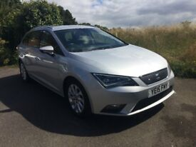 2015 SEAT LEON ST 1.6 TDi 110bhp ECOMOTIVE SE ESTATE (Stop/Start Technology) 34,000 MILES