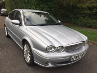 JAGUAR X- TYPE 2.0 DIESEL SPORT 57 REG IN SILVER WITH HALF LEATHER, SERVICE HISTORY AND MOT OCT 2018