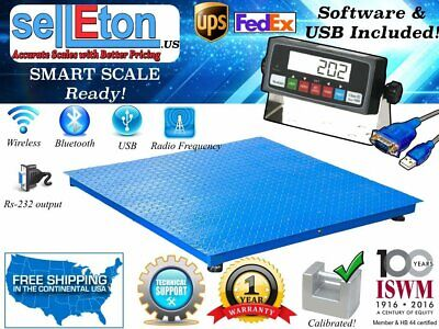 New 5000lb X 1lb 4x4 48 X 48 Floor Scale Pallet Scale With Software Usb