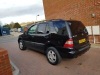 2004 mercedes ml 4x4 diesel 2.7 black auto leather, hpi clear, good engine gearbox.