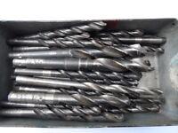 Box of assorted size twist drill bits