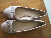 Faith nude flat shoes