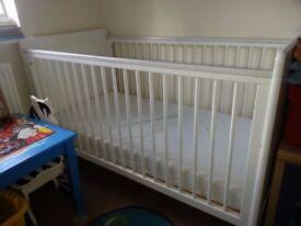 Cot bed , mattress
