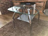 Glass coffee table and glass side table living room tables furniture