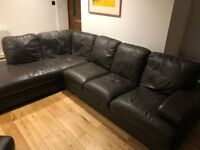 6 seater Corner Leather Sofa