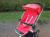 Quinny Buzz Red Revolution Stroller including carrycot + adaptors