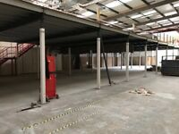 MEZZANINE FLOOR 20M X 12M WITH STAIRS DISMANTLED READY TO GO( STORAGE , PALLET RACKING )