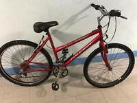 Ladies red Raleigh mountain bike